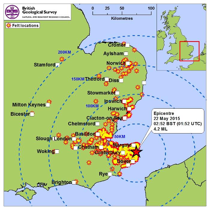 Carte Angleterre Le Kent.A Propos Du Seisme En Angleterre Azurseisme
